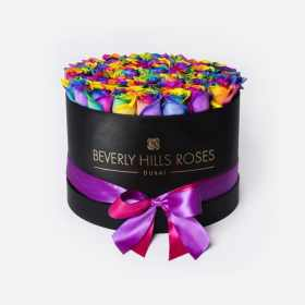 """Roses Delivery Near Me """"Candy Crush"""" in Medium Black Box"""