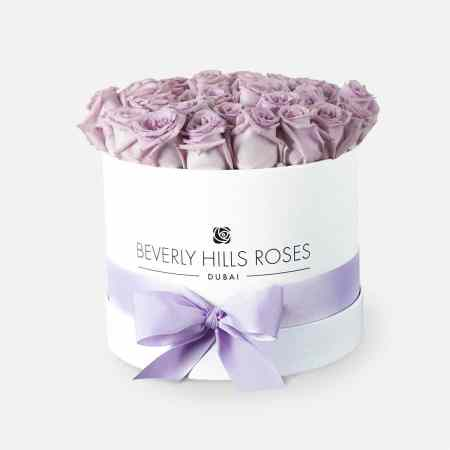 light purple rose box