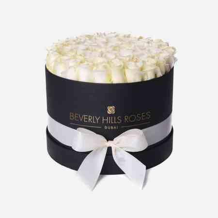 "Flower Rose Box ""Santa Monica"" in Medium Black Box"