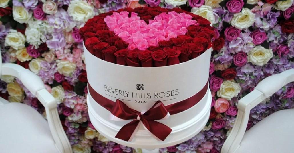 Valentine rose box