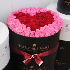 """Only Roses UAE """"Affection""""in Large Black Rose Box"""