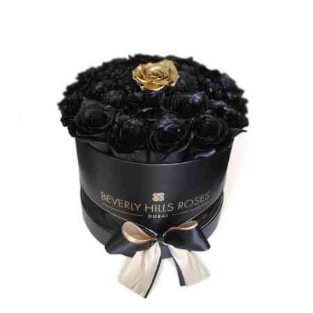 Small black rose box in fantasy