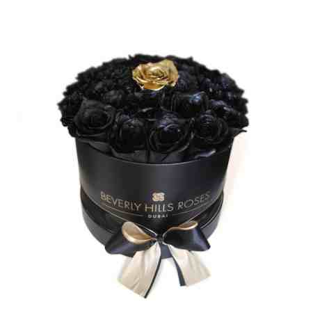Small black rose box in fantasy