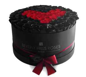 """Best Flowers Delivery Dubai """"Deep Love"""" in Large Black Box"""