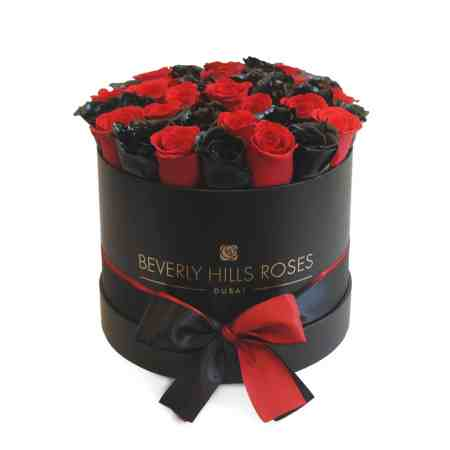 Medium round black box in deep love