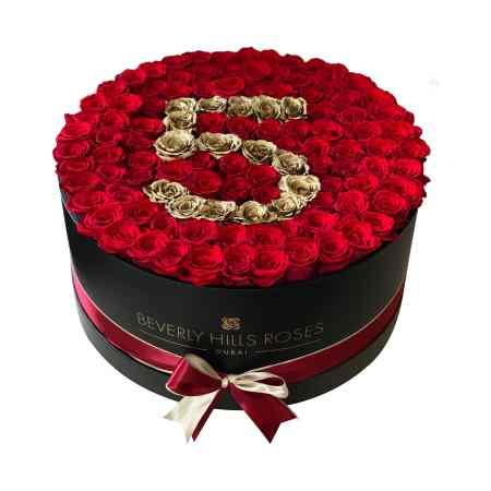 "Large Black rose box in ""AGE"""