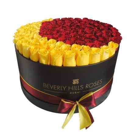"Large black rose box in ""Crescent"""
