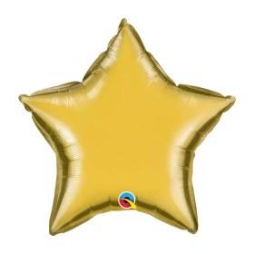 Gold Star foil Balloon