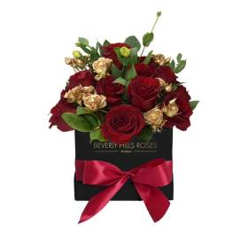 Red & Gold roses in 'Enchanted'
