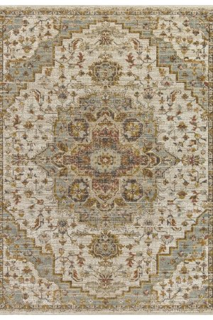 Beverly rug alcantras collection beige and blue area rug