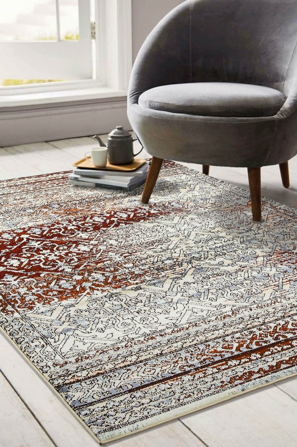 Beverly rug artemis collection vintage area rug 1006a burgundy