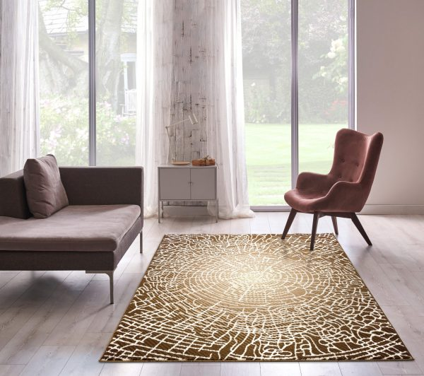 Beverly rug bella collection modern abstract area rug 00966a beige brown