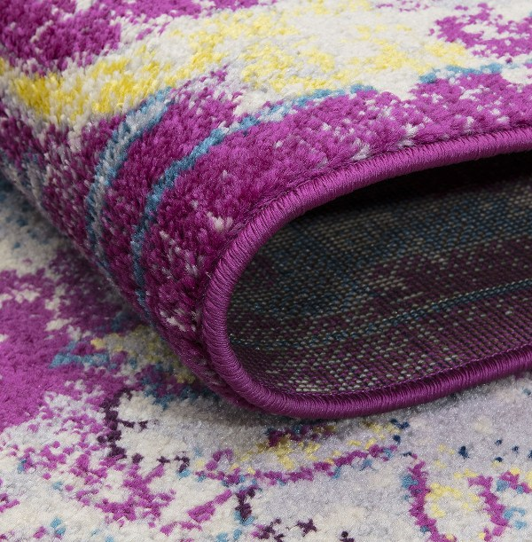 Beverly rug harmony Collection Bohemian Vintage Oriental Area Rug g0391 lilac and grey