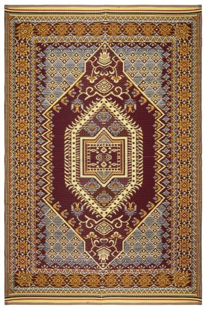 Beverly Rug Lightweight Indoor Outdoor Reversible Plastic Area Rug, Bohemian Multi