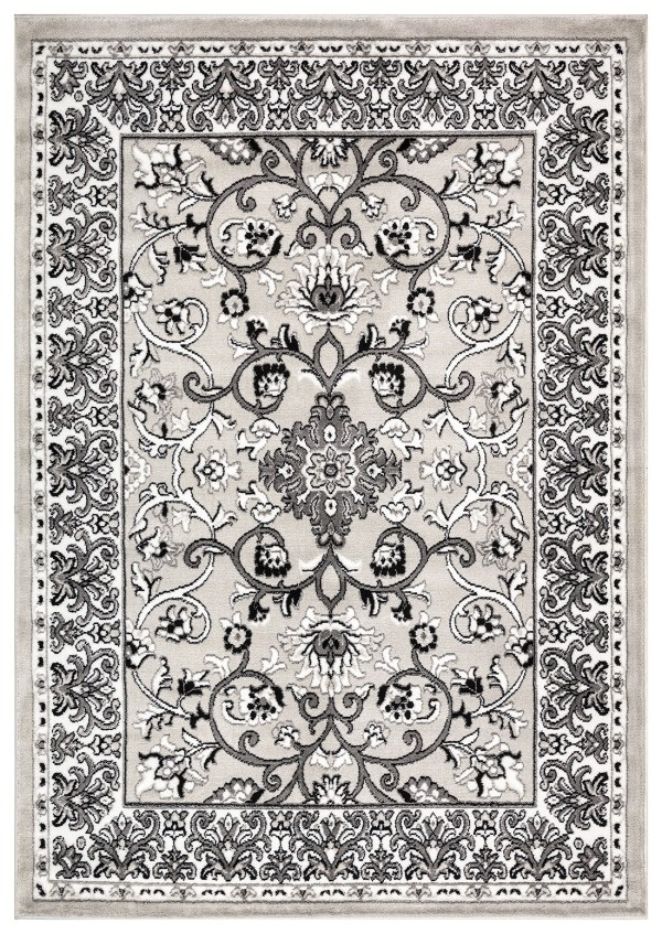 Beverly Rug Regal Collection Timeless Classic Traditional Area Rug 178 Bone light grey