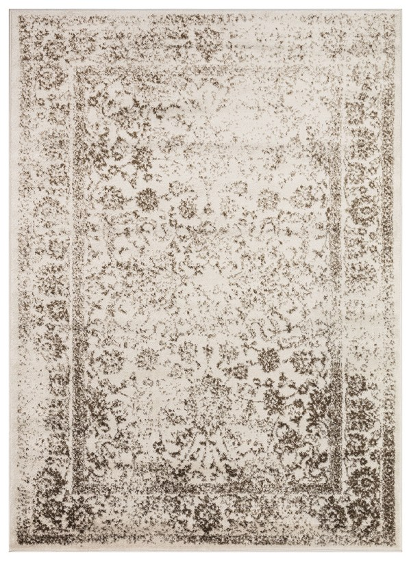 Beverly Rug Regal Collection Vintage Oriental Medallion Area Rug 172 brown dark beige