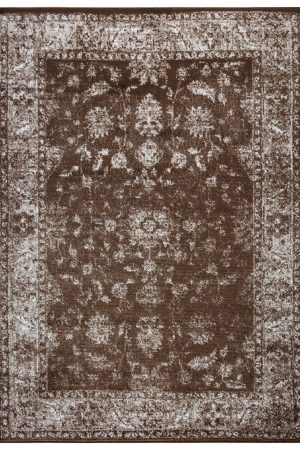 Beverly Rug Regal Collection Vintage Oriental Medallion Area Rug 169 Beige Brown