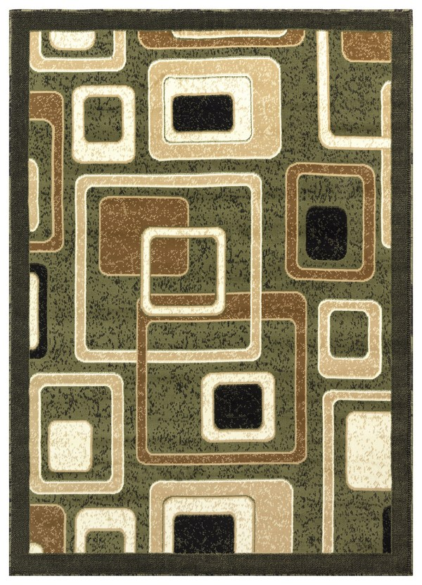 beverly rug Princess Collection Geometric Swirl Abstract Area Rug 807 beige green