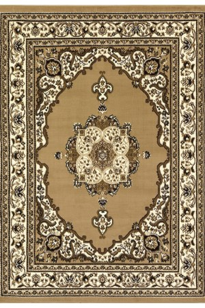 beverly rug princess collection oriental medallion area rug 811 beige