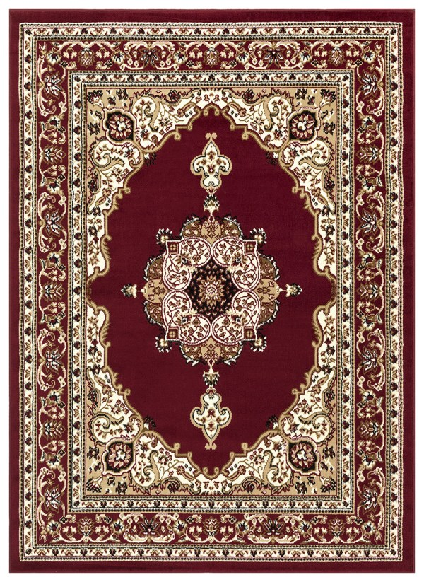 beverly rug princess collection oriental medallion area rug 811 burgundy