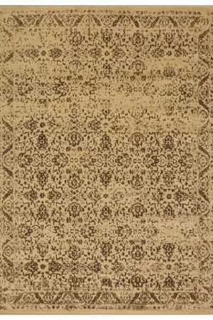 beverly rug princess collection vintage oriental area rug 813 brown beige