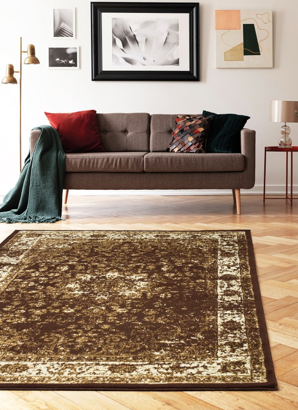 beverly rug princess collection vintage oriental area rug 814 bone brown