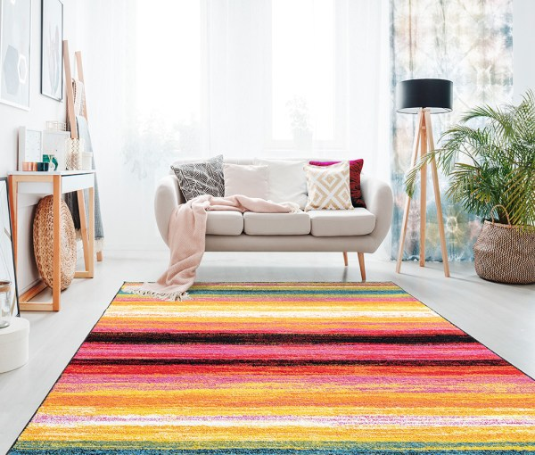 Beverly rug queen collection multi color modern and abstract area rug 1703