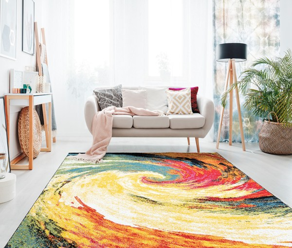 Beverly rug queen collection multi color modern and abstract area rug 2789