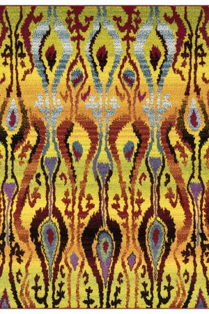 Beverly rug queen collection multi color modern and abstract area rug 2802