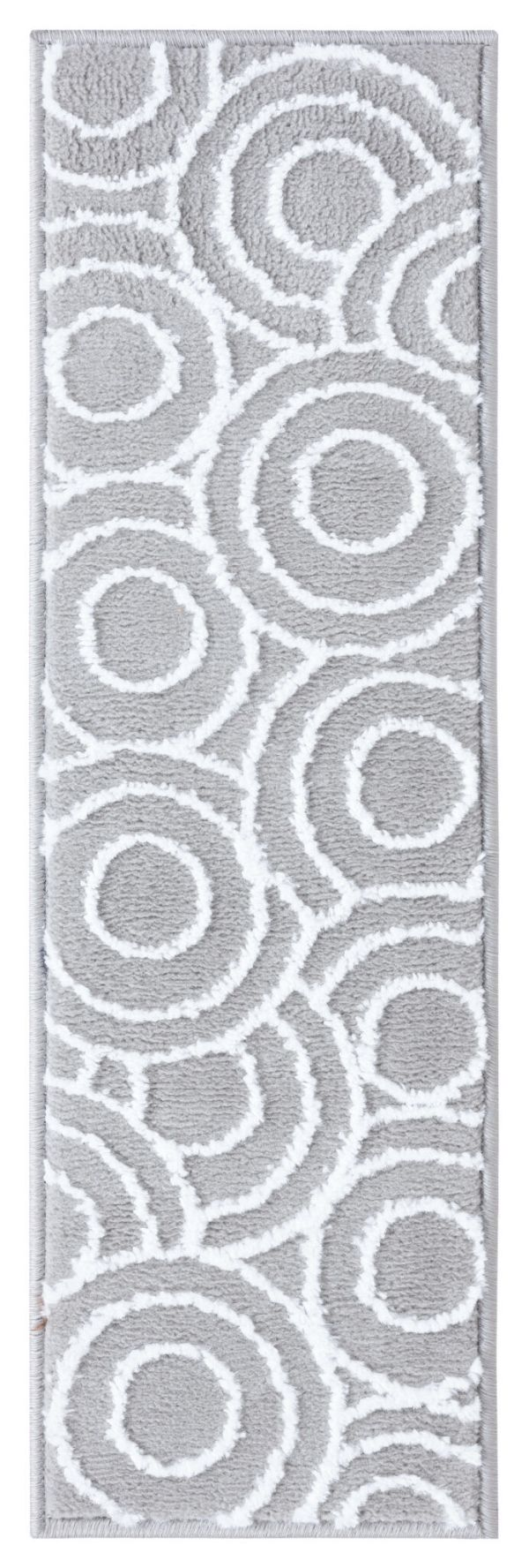 Beverly Rug Soft Rug Stair Treads Circles Design - White