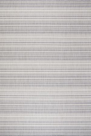 Waikiki Collection Indoor/Outdoor Stripes Area Rug - Grey & White