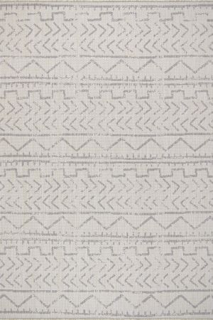 Waikiki Collection Indoor/Outdoor Trellis Area Rug - Grey & White