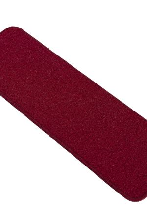 """Beverly Rug Solid Color Indoor Carpet Stair Treads 8.5""""x26"""" Red"""