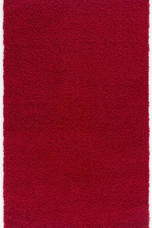 Malibu Collection Modern Shaggy Area Rug - Red