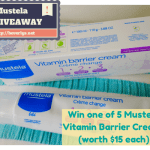 GIVEAWAY: Win one of five Mustela Vitamin Barrier Creams (new formula)
