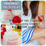 GIVEAWAY: Win one of two Clarins Body Shaping Cream (worth $98 each)!