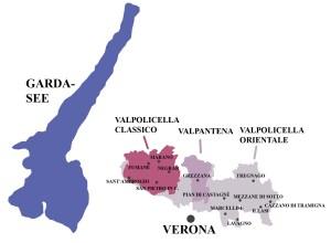 Karte des Valpolicella von Wikipedia
