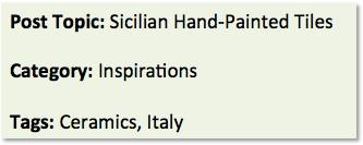 blog categories and tags, interior design blog