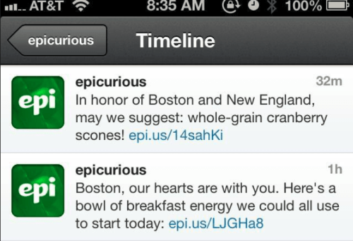 Epicurious-Tweets fails