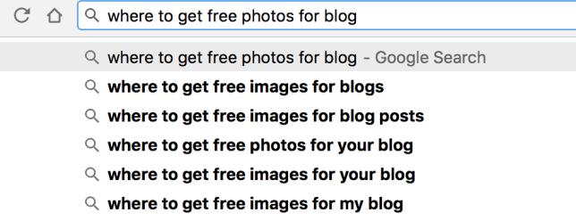 where to get free photos for blog