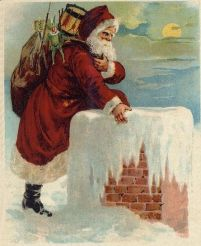 Santa_Coming_Down_the_Chimney_Drawing Christmas in 19th-century