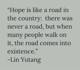 Staying hopeful, quote Lin Yutang