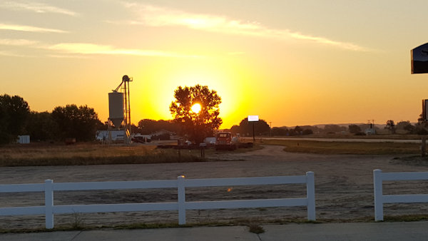 Sunrise in Thedford, Nebraska