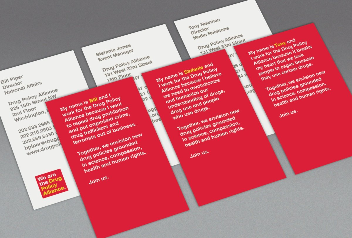 Drug Policy Alliance Business Cards
