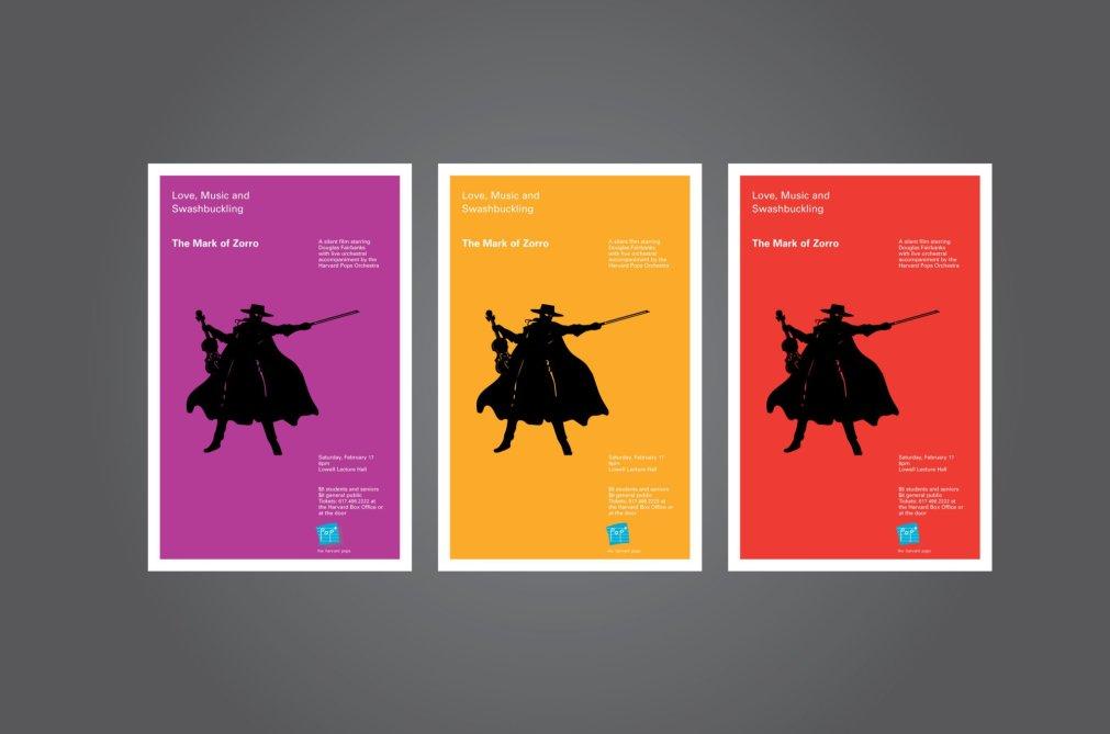 Harvard Pops Zorro Posters