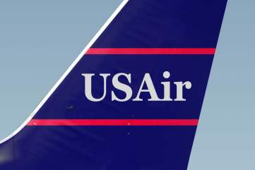USAir Logo on Tail Fin