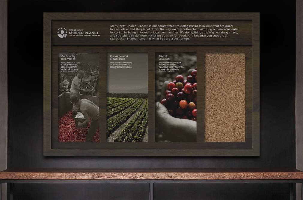 Starbucks Shared Planet Pegboard