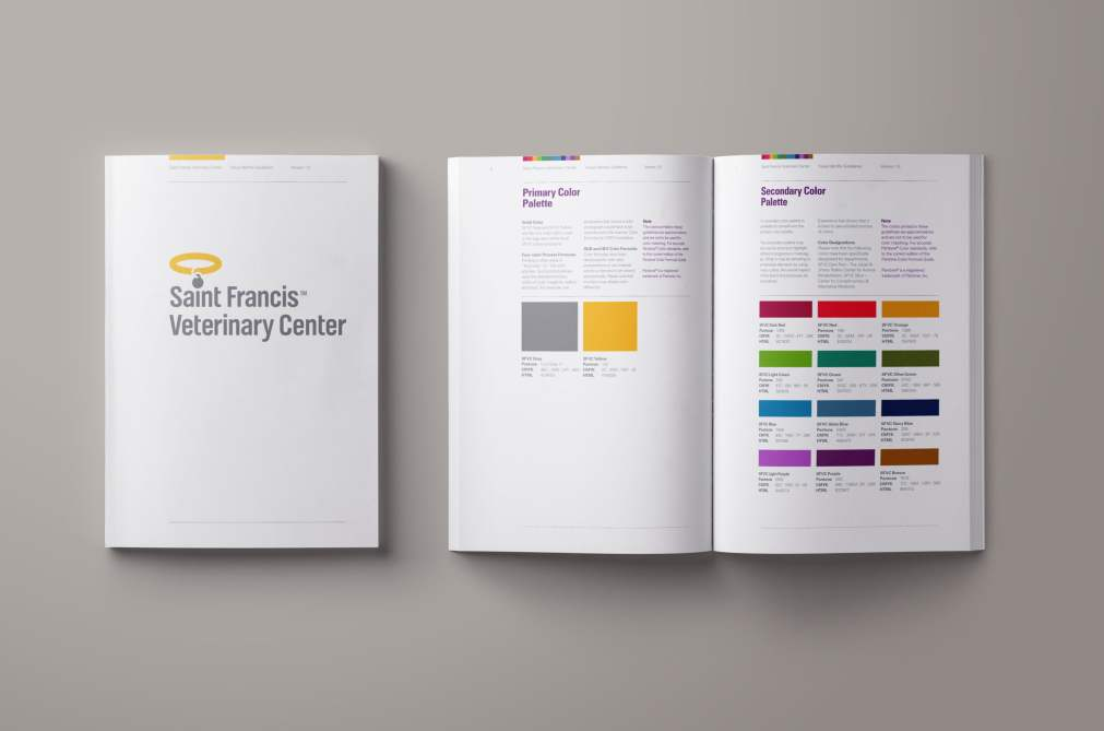 Saint Francis Veterinary Center brand guidelines