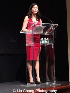 Jennifer Betit Yen, Film Lab President and actor, at the Time Warner Theater in New York on October 7, 2015. Photo by Lia Chang