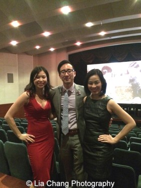 Jennifer Betit Yen, Roger Chu, Director, Corporate Human Resources at Time Warner, Inc., and Lia Chang at the Time Warner Theater in New York on October 7, 2015. Photo by Sandy Lee